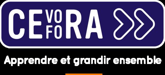 Cefora logo baseline transparant police blanche FR