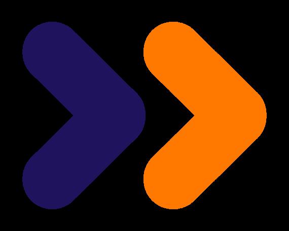 Cevora arrows purple orange